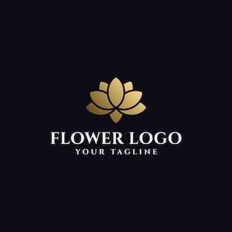 Elegant lotus flower logo  template