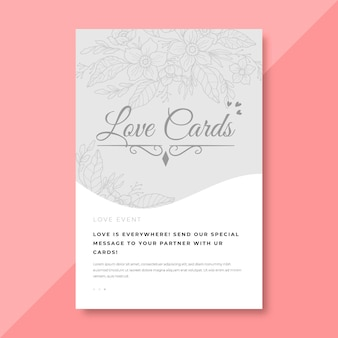 Elegant love card template
