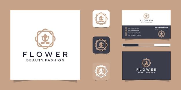 スタイリッシュなグラフィックデザインとネームカードインスピレーションの豪華なデザインロゴのあるエレガントなラブホース
