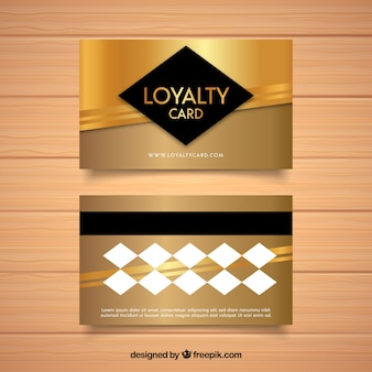 Elegant loyalty card template with golden design