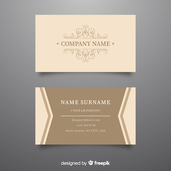 Elegant luxurious business card template