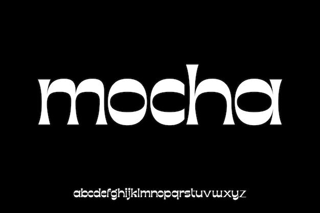 Elegant and luxury alphabet font vector