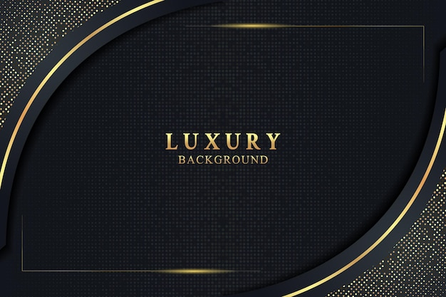 Elegant luxury background concept with black and gold texture