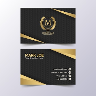 Elegant luxury business card template