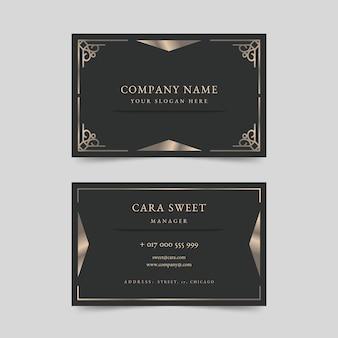 Elegant luxury business card