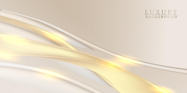Элегантная роскошная ткань золотая атласная ткань кривая потока волны фон
