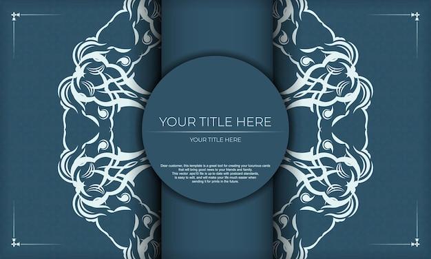 파란색 배경에 우아한 럭셔리 디자인입니다. 프레임, 로고, 포장, 향수, 로션, 비누, 과자, 초콜릿에 적합합니다.