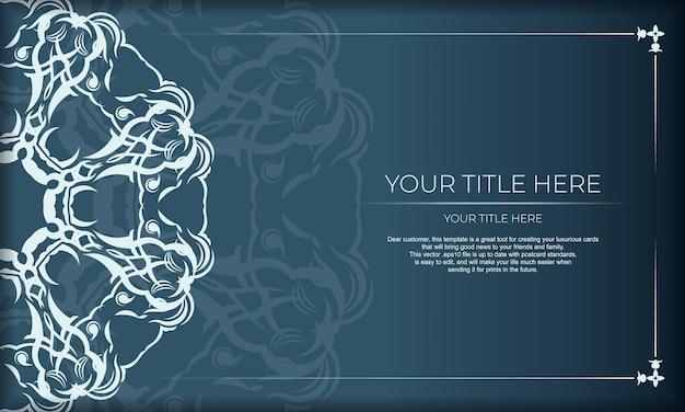 파란색 배경에 우아한 럭셔리 디자인입니다. 라벨, 배지, 프레임, 로고, 포장, 향수, 로션, 비누, 초콜릿에 적합합니다.