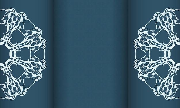파란색 배경에 우아한 럭셔리 디자인입니다. 라벨, 배지, 프레임, 로고, 포장, 향수, 로션, 비누, 과자, 초콜릿에 적합합니다.