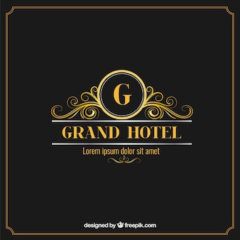 Elegant and luxury hotel logo
