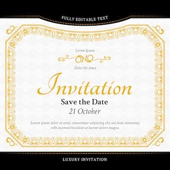 Elegant luxury invitation