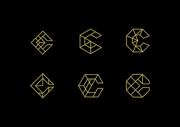 Elegant luxury letter c logo