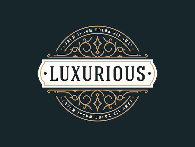 Elegant luxury logo template