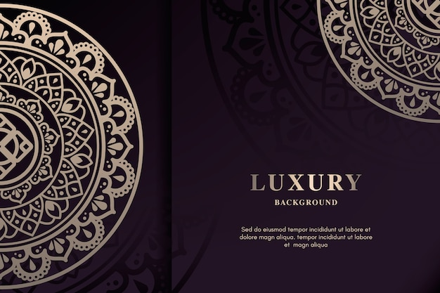Elegant luxury mandala background