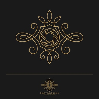 Elegant luxury photography logo template.