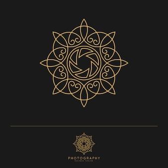 Elegant luxury photography logo template.