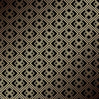 エレガントで豪華なシームレスタイルゴールドとブラックのパターンデザイン
