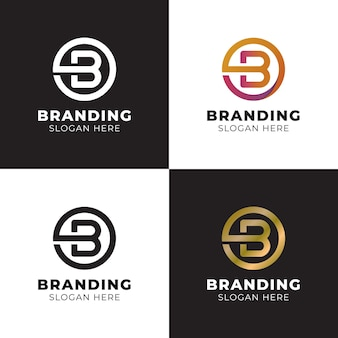 Elegant and luxury simple letter b with circle shape for corporate identity monogram logo