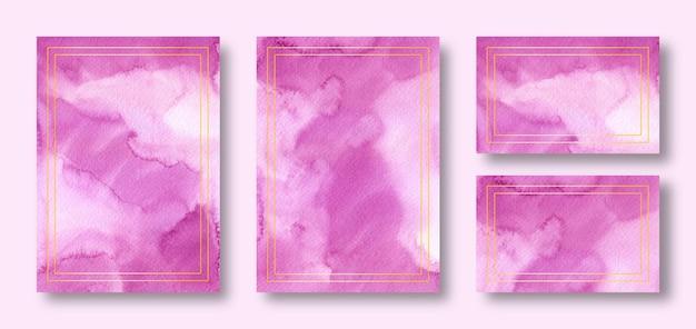 Элегантный шаблон свадебного приглашения пурпурный