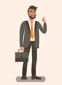 Elegant man holding briefcase