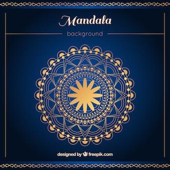 Elegant mandala background with golden style