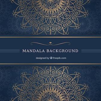Elegant mandala background with luxurious style