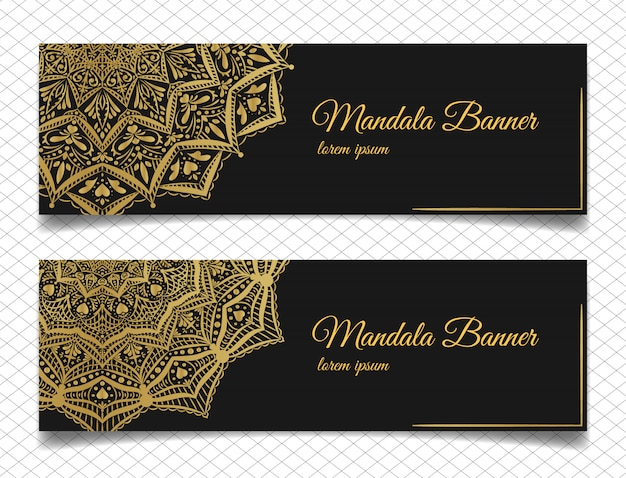 Elegant mandala banners