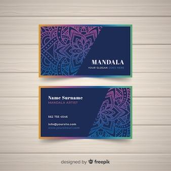 Элегантная концепция визитной карточки мандалы