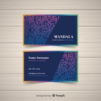 Elegant mandala business card concept