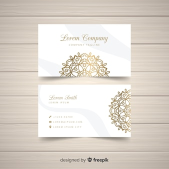 Elegant mandala business card design