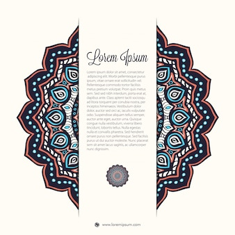 Elegant mandala design with space for text