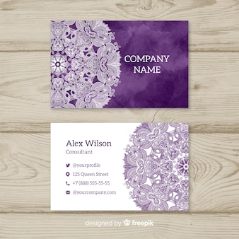 Elegant mandala and luxury business card design