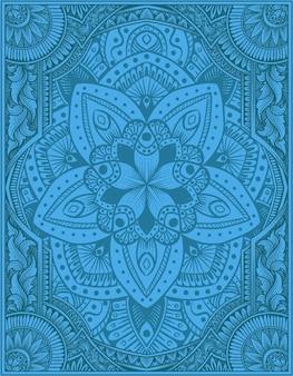 Элегантный орнамент мандалы фон