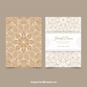 Elegant mandala wedding invitation