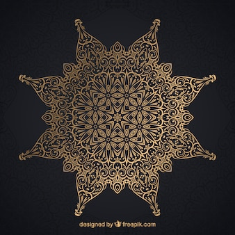 Elegant mandala with golden style