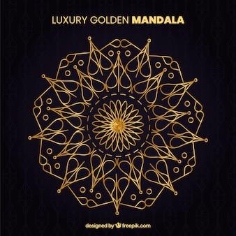 Elegant mandala with luxury style