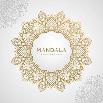 Elegant mandala with white background