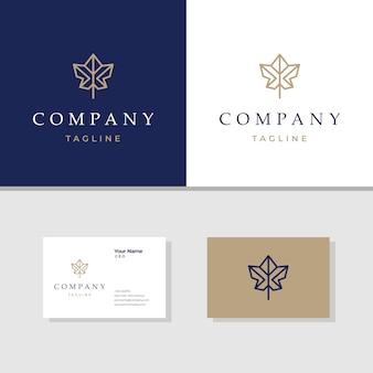 Elegant maple logo design  template