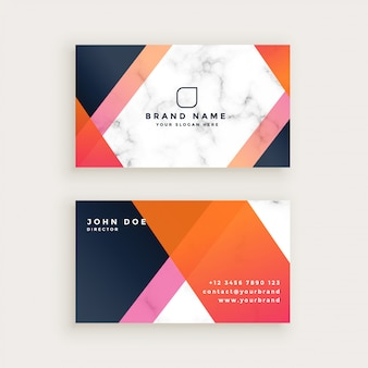 Elegant marble texture business card design
