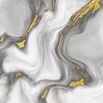 ゴールドのディテールが施されたエレガントな大理石の質感