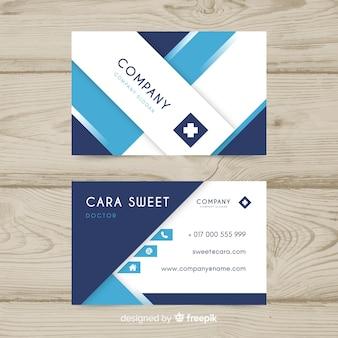Elegant medical business card concept