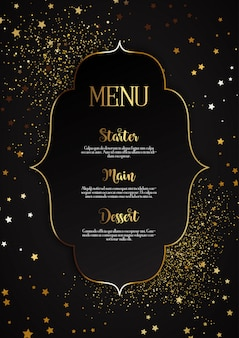 Elegant menu design