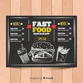 Elegant menu template with chalkboard style
