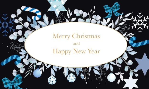 Elegante sfondo di buon natale con ornamento natalizio bianco