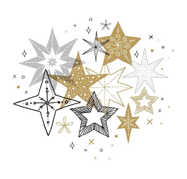 Элегантный шаблон с рождеством, баннер и поздравительной открытки