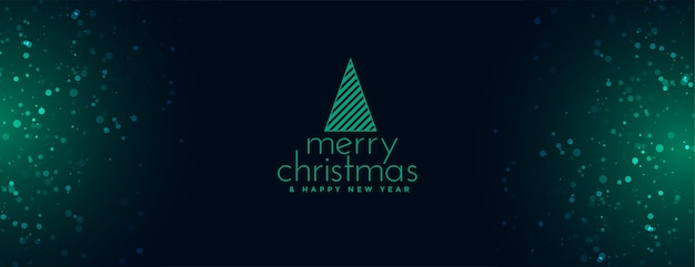 Elegant merry christmas banner with sparkles