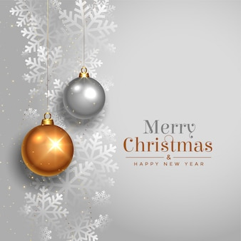 Elegant merry christmas beautiful festival card design