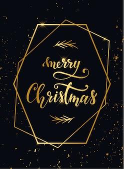 Elegant merry christmas card design