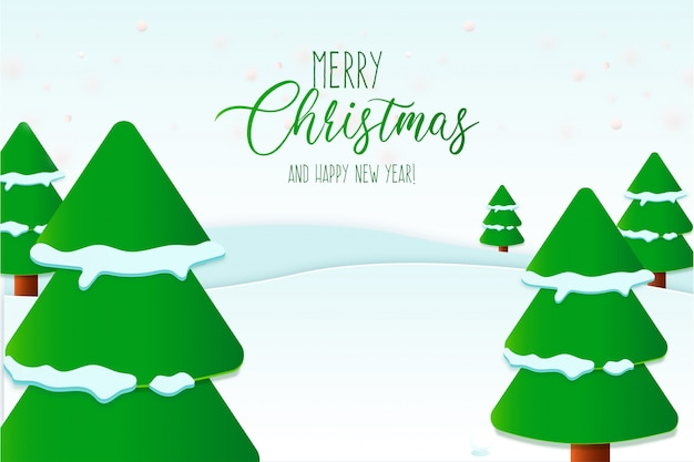 Elegant merry christmas card template