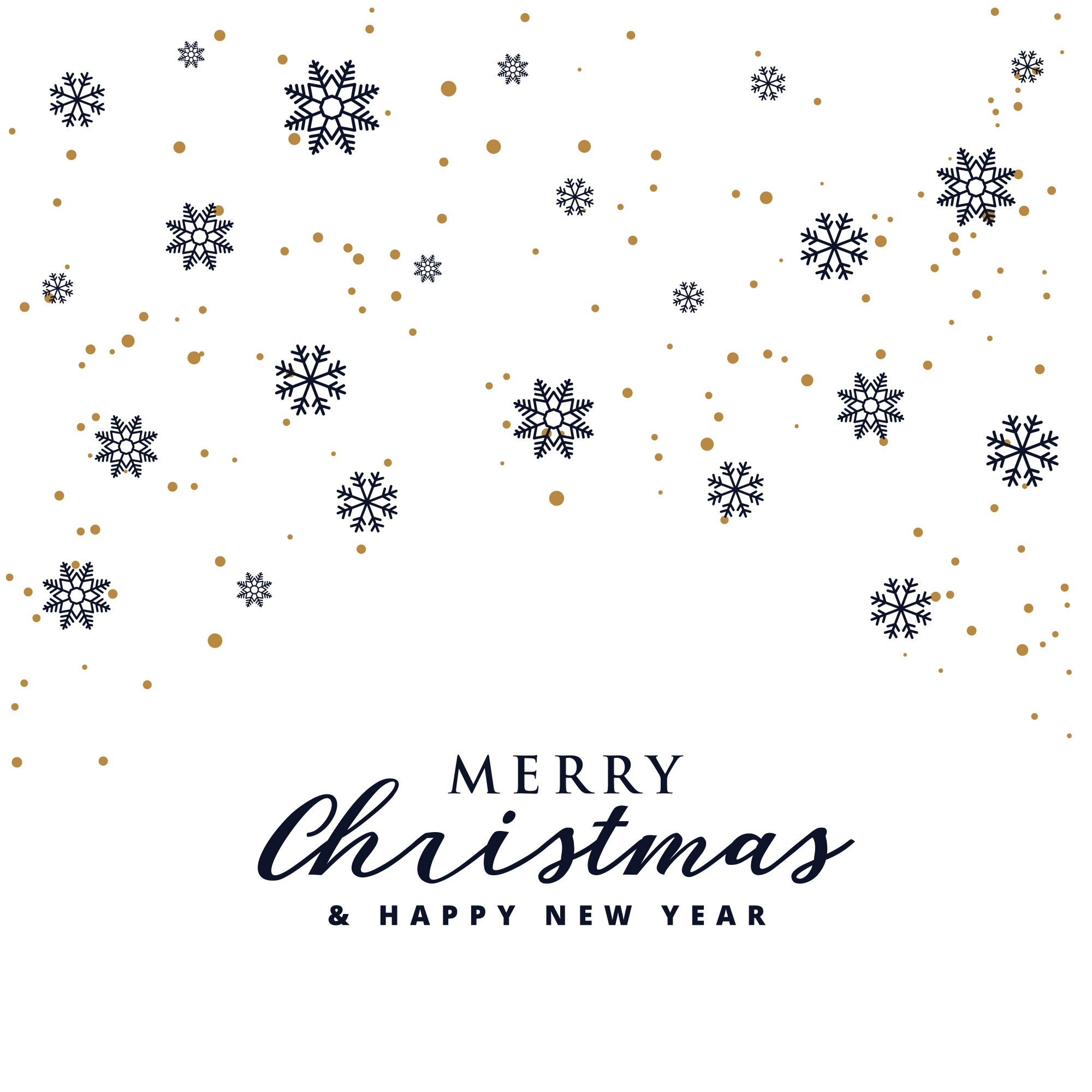 Elegant merry christmas festival background with snowflakes